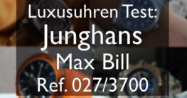 Junghans Max Bill Test
